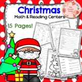 CHRISTMAS UNIT: Morning Work and Reading & Math Centers- NO PREP! 15 Pages!