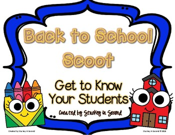 {$1 DEAL} Getting to Know Your Students Scoot