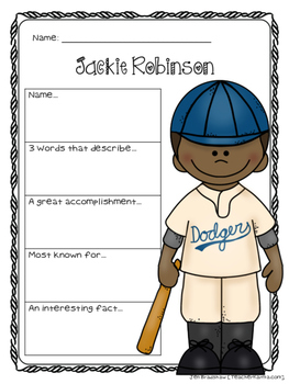 Jackie Robinson Biography Report Organizers ~ Black History Month