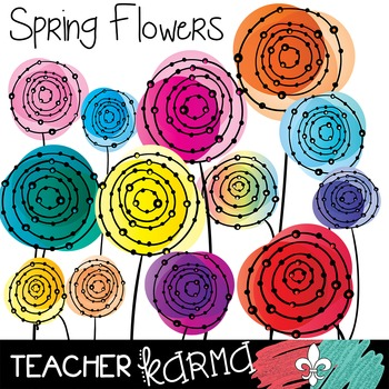 {$1 DEAL} Spring Flowers Clipart ~ Commercial Use OK