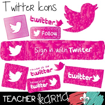Twitter Icons Clipart ~ Commercial Use OK ~ Blog Buttons