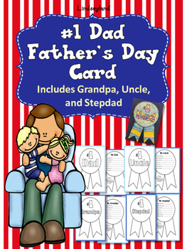 #1 Dad Father's Day Card