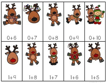 Math Fluency:  Reindeer Games Editable