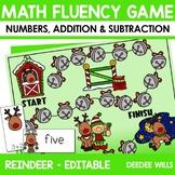 Math Fluency:  Reindeer Games Editable