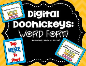 Digital Doohickeys: 4th Grade Word Form