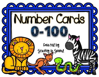 {$1 Deal} Number Cards 0-100