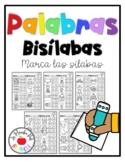 $1 Deal Palabras bisílabas-Marca las sílabas