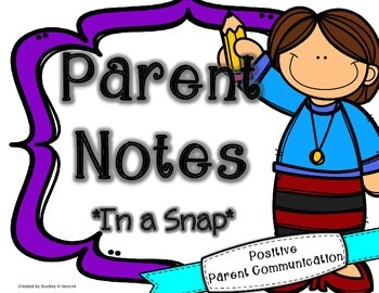 {$1 Deal} Parent Notes in a Snap {Positive Parent Communication}