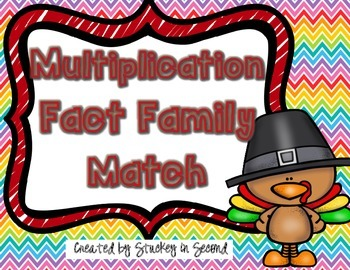 {$1 Deal} Turkey Multiplication/Division  Fact Family Match