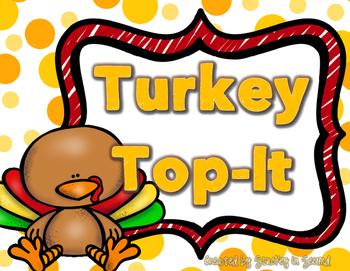 {$1 Deal} Turkey Top-It Comparison Place Value Game