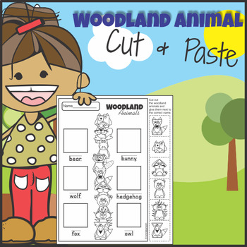 $1 Deal Woodland Animals Cut and Paste