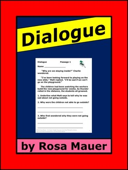 Dialogue Review and Practice Printables
