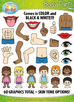 Body Parts Clipart {Zip-A-Dee-Doo-Dah Designs}