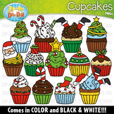 Christmas Cupcakes Clipart Set {Zip-A-Dee-Doo-Dah Designs}