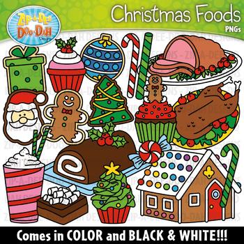 Christmas Foods Clipart Set {Zip-A-Dee-Doo-Dah Designs}