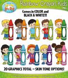 Crayon Kid Characters Clipart {Zip-A-Dee-Doo-Dah Designs}