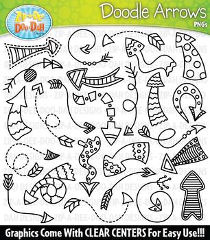Doodle Arrows Clipart Set 2 — Includes 25 Graphics!