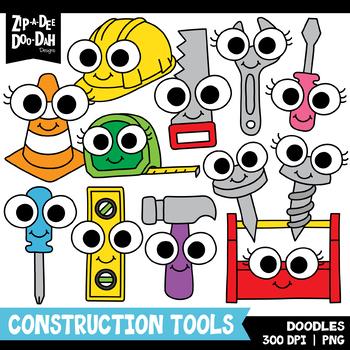Doodle Construction Tools Clipart Set {Zip-A-Dee-Doo-Dah Designs}