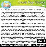 Doodle Page Divider Clipart Set 3 {Zip-A-Dee-Doo-Dah Designs}