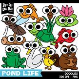 Doodle Pond Life Tools Clipart Set {Zip-A-Dee-Doo-Dah Designs}
