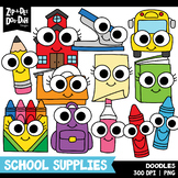 Doodle School Supplies Clipart Set {Zip-A-Dee-Doo-Dah Designs}