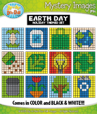EARTH DAY Mystery Images Clipart {Zip-A-Dee-Doo-Dah Designs}