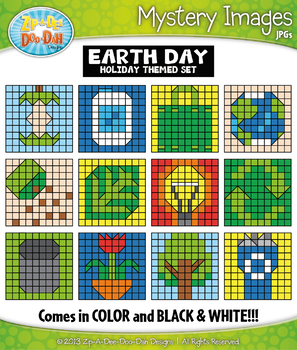 EARTH DAY Create Your Own Mystery Images Clipart Set