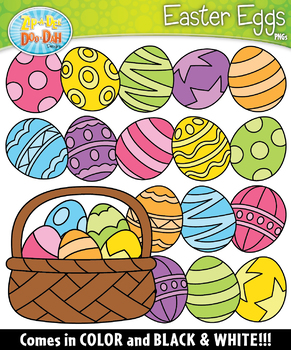 Easter Eggs Clipart Set {Zip-A-Dee-Doo-Dah Designs}