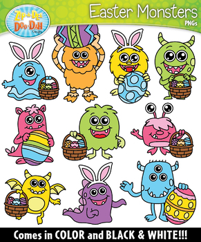 Easter Monsters Clipart Set {Zip-A-Dee-Doo-Dah Designs}