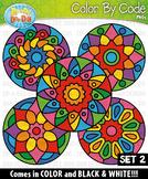 Mandalas Color By Code Clipart Set 2 {Zip-A-Dee-Doo-Dah Designs}