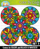 Mandalas Color By Code Clipart Set 3 {Zip-A-Dee-Doo-Dah Designs}