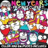 New Years Friends Clipart {New Years Clipart}