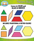 Pattern Block Shapes Clipart {Zip-A-Dee-Doo-Dah Designs}