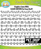 Pet Shop Doodle Page Divider Clipart {Zip-A-Dee-Doo-Dah Designs}