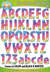 Rainbow Scribble Alphabet & Numbers Clipart Bundle {Zip-A-Dee-Doo-Dah Designs}