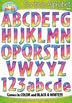 Rainbow Scribble Alphabet & Numbers Clipart Bundle {Zip-A-Dee-Doo-Dah Designs}