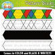 Repeating Puzzle Pattern Blocks Clipart {Zip-A-Dee-Doo-Dah Designs}