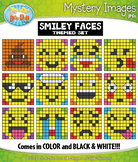 SMILEY FACES Mystery Images Clipart {Zip-A-Dee-Doo-Dah Designs}
