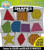 Shapes Building Blocks Clipart {Zip-A-Dee-Doo-Dah Designs}