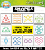 Shapes Geoboards Clipart {Zip-A-Dee-Doo-Dah Designs}