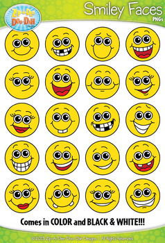 Silly Smiley Faces Clipart Set — Includes 40 Graphics!