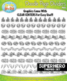 Superhero Doodle Page Divider Clipart {Zip-A-Dee-Doo-Dah Designs}