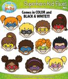 Superhero Kid Faces Clipart {Zip-A-Dee-Doo-Dah Designs}