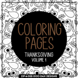 Thanksgiving Doodle Coloring Pages Volume 1 {Zip-A-Dee-Doo-Dah Designs}