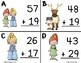 Two Digit Addition Snow Princess Slide (With Regrouping) SCOOT