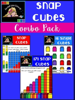 Math Snap Cubes {Sweet Line Design Clipart}