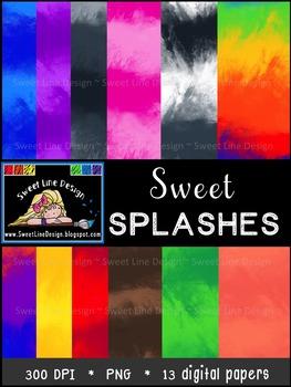 Sweet Splash Digital Paper {Sweet Line Design