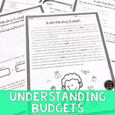 Understanding Budgets Reading & Writing Activity (SS6E13,
