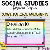 Constitutional Amendments Review Game (SS5CG2, SS5CG3)