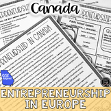 Entrepreneurs in Canada Reading Activity (SS6E6, SS6E6e)